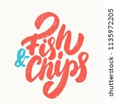fish and chips sign. | Shutterstock .eps vector #1135972205