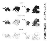motoblock and other... | Shutterstock .eps vector #1135972616