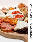 serbian cheese and meat... | Shutterstock . vector #1135974065