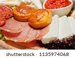 serbian cheese and meat... | Shutterstock . vector #1135974068