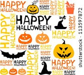 halloween seamless background... | Shutterstock . vector #113597872