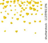 heart frame background with... | Shutterstock .eps vector #1135981196