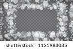 isolated snowflakes on... | Shutterstock .eps vector #1135983035