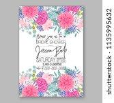 floral pink chrysanthemum... | Shutterstock .eps vector #1135995632