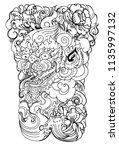 thai art traditional tattoo... | Shutterstock .eps vector #1135997132