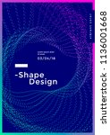 minimal cover design with... | Shutterstock .eps vector #1136001668