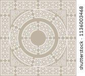mandala. vintage decorative... | Shutterstock .eps vector #1136003468