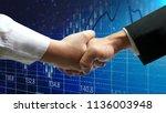 businessman hand shake ... | Shutterstock . vector #1136003948