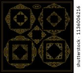 vector set of calligraphic... | Shutterstock .eps vector #1136006216