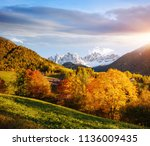 perfect landscape in santa... | Shutterstock . vector #1136009435