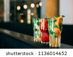 classic  strawberry and... | Shutterstock . vector #1136014652