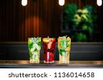 classic  strawberry and... | Shutterstock . vector #1136014658