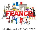 france background design.... | Shutterstock .eps vector #1136015702