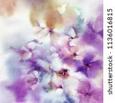 floral painting. wall art for... | Shutterstock . vector #1136016815