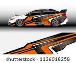 car decal graphic vector  truck ... | Shutterstock .eps vector #1136018258