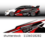 car decal graphic vector  truck ... | Shutterstock .eps vector #1136018282