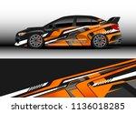 car decal graphic vector  truck ... | Shutterstock .eps vector #1136018285