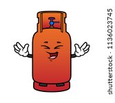 cartoon laughing gas cylinder... | Shutterstock .eps vector #1136023745