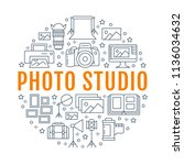 photography equipment poster... | Shutterstock .eps vector #1136034632