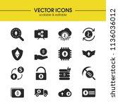 crypto icons set with litecoin...
