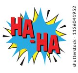 laughter representation with... | Shutterstock .eps vector #1136041952