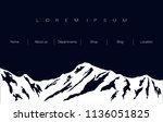 mountain ridge in black and... | Shutterstock .eps vector #1136051825