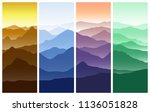 mountains landscape in four... | Shutterstock .eps vector #1136051828