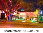 Home Decorated And Lighted For...