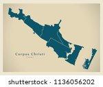 modern city map   corpus... | Shutterstock .eps vector #1136056202