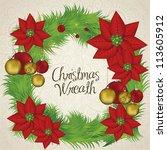 illustration of christmas... | Shutterstock .eps vector #113605912