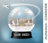south africa landmark global... | Shutterstock .eps vector #1136063408