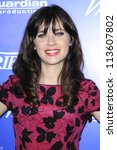 BEVERLY HILLS - SEP 21:  Zooey Deschanel at the 'Variety and Women in Film Pre-Emmy Event' at Scarpetta on September 21, 2012 in Beverly Hills, California - stock photo