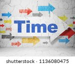 time concept   arrow with time... | Shutterstock . vector #1136080475