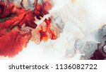 abstract red background. macro... | Shutterstock . vector #1136082722