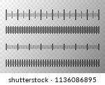 set of size indicators with... | Shutterstock .eps vector #1136086895