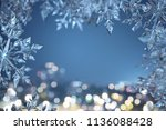 ice crystal background  3d... | Shutterstock . vector #1136088428