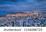 Haifa at night ,cloudy