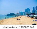 busan  south korea   july 2018  ... | Shutterstock . vector #1136089568