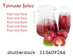 glass and carafe of tomato... | Shutterstock . vector #113609266