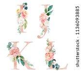 Floral Alphabet Set   Letters I ...