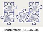 puzzle sketch   Shutterstock .eps vector #113609836