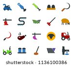 colored vector icon set   field ... | Shutterstock .eps vector #1136100386