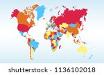 color world map vector   Shutterstock .eps vector #1136102018