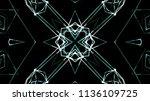 3d futuristic kaleidescopic...   Shutterstock . vector #1136109725