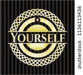 yourself golden emblem or badge | Shutterstock .eps vector #1136113436