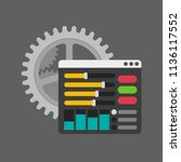 settings icon  tools and... | Shutterstock .eps vector #1136117552