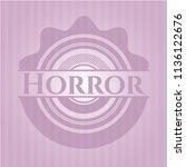horror pink emblem. vintage. | Shutterstock .eps vector #1136122676
