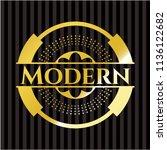modern gold badge or emblem | Shutterstock .eps vector #1136122682