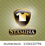 shiny emblem with shirt icon... | Shutterstock .eps vector #1136122796