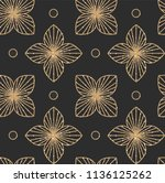 art deco seamless geometric... | Shutterstock .eps vector #1136125262
